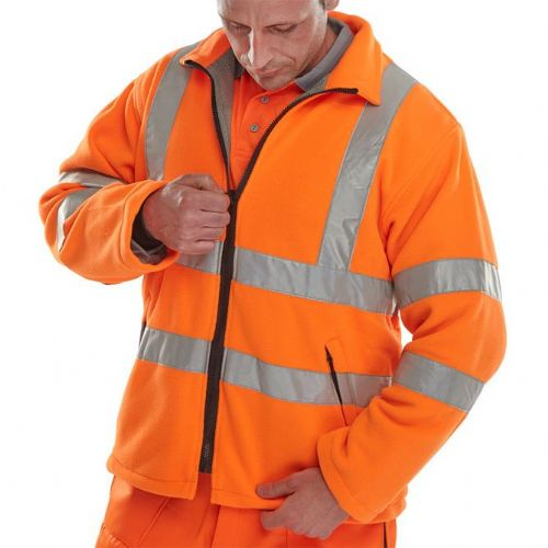 BSeen Orange Hi Vis Carnoustie Fleece Jacket